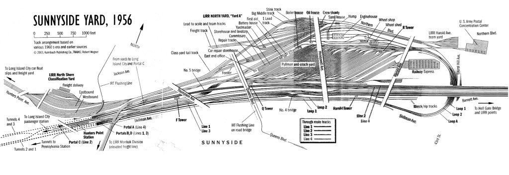 Sunnyside Yard  Rendering C. 1956 by Robert Wegner